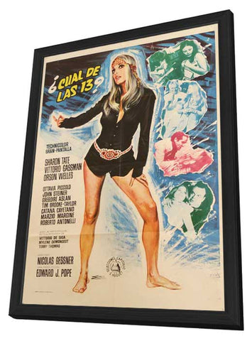 12 + 1 11 x 17 Movie Poster - Italian Style A - in Deluxe Wood Frame