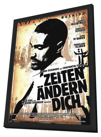 Zeiten Andern Dich 11 x 17 Movie Poster - German Style B - in Deluxe Wood Frame