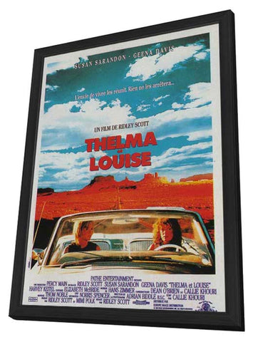 Thelma and Louise 11 x 17 Movie Poster - French Style A - in Deluxe Wood Frame