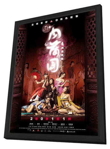 3-D Sex and Zen: Extreme Ecstasy 11 x 17 Movie Poster - Hong Kong Style B - in Deluxe Wood Frame