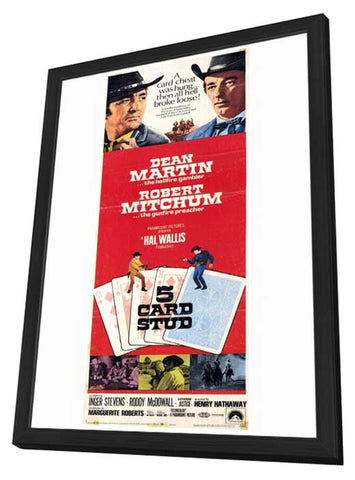 Sale 5 Card Stud  Movie Poster Style B In Deluxe Wood Frame