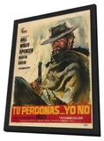 God Forgives - I Don't 11 x 17 Movie Poster - Spanish Style A - in Deluxe Wood Frame
