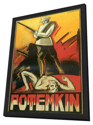 The Battleship Potemkin 11 x 17 Movie Poster - Danish Style A - in Deluxe Wood Frame