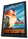 Monsters vs. Aliens 11 x 17 Movie Poster - UK Style E - in Deluxe Wood Frame