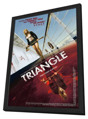 Triangle 11 x 17 Movie Poster - UK Style A - in Deluxe Wood Frame