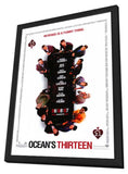 Ocean's Thirteen 11 x 17 Movie Poster - Style B - in Deluxe Wood Frame