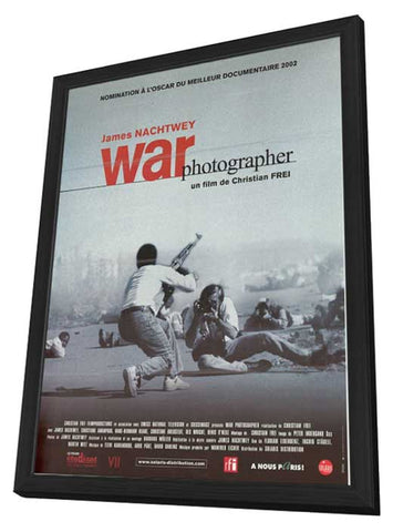 War Photographer 11 x 17 Movie Poster - French Style A - in Deluxe Wood Frame