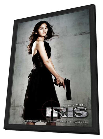 Iris: The Movie 11 x 17 Movie Poster - Korean Style C - in Deluxe Wood Frame