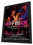 Jeff Beck at Ronnie Scott's 11 x 17 Movie Poster - Hong Kong Style A - in Deluxe Wood Frame