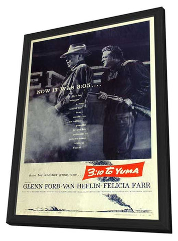 3:10 To Yuma 27 x 40 Movie Poster - Style A - in Deluxe Wood Frame