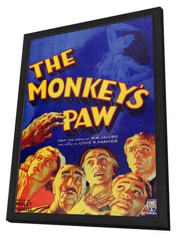The Monkey's Paw 11 x 17 Movie Poster - Style A - in Deluxe Wood Frame