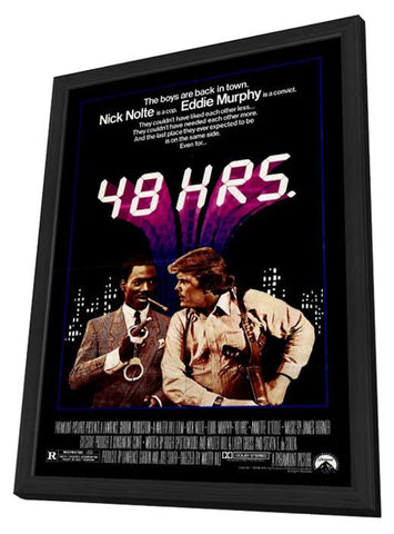 48 Hrs. 27 x 40 Movie Poster - Style A - in Deluxe Wood Frame