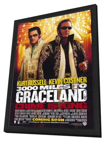 3000 Miles to Graceland 11 x 17 Movie Poster - Style A - in Deluxe Wood Frame