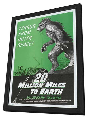 20 Million Miles to Earth 11 x 17 Movie Poster - Style E - in Deluxe Wood Frame