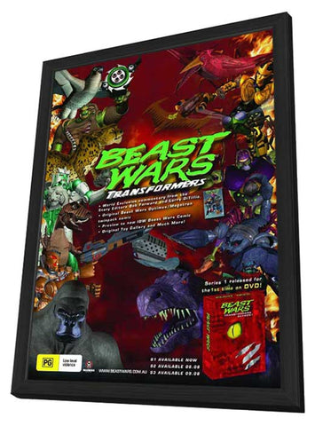 Beast Wars: Transformers 11 x 17 Movie Poster - Australian Style A - in Deluxe Wood Frame