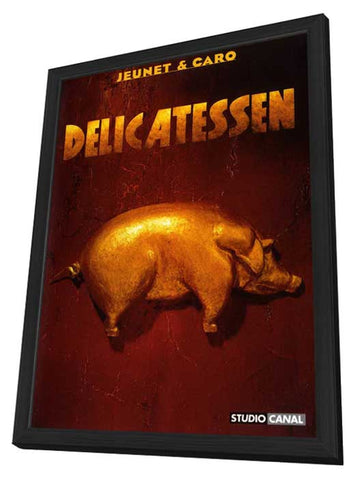 Delicatessen 11 x 17 Movie Poster - French Style A - in Deluxe Wood Frame