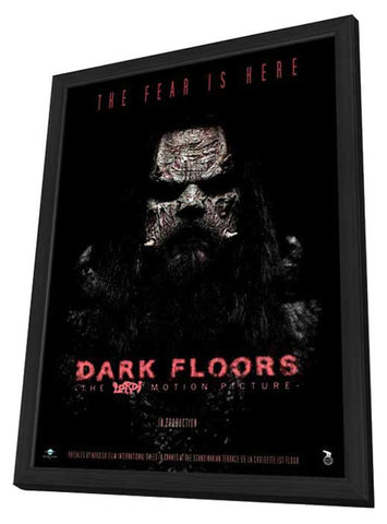 Dark Floors 11 x 17 Movie Poster - French Style A - in Deluxe Wood Frame