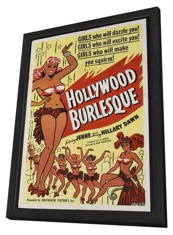Hollywood Burlesque 11 x 17 Movie Poster - Style B - in Deluxe Wood Frame