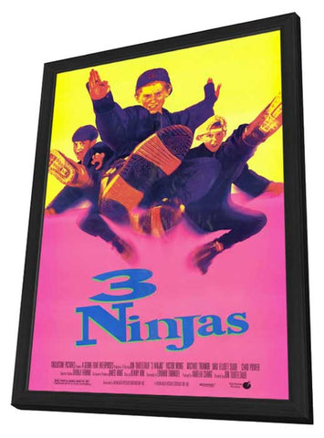 3 Ninjas 27 x 40 Movie Poster - Style D - in Deluxe Wood Frame