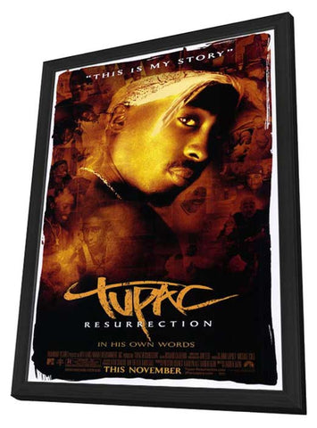 2Pac 27 x 40 Movie Poster - Style A - in Deluxe Wood Frame
