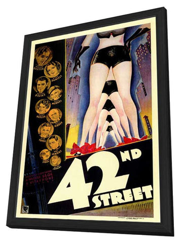 42nd Street 11 x 17 Movie Poster - Style A - in Deluxe Wood Frame