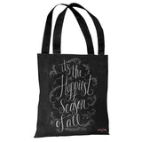 Happiest Season of All - Gray White Tote Bag by Lily & Val