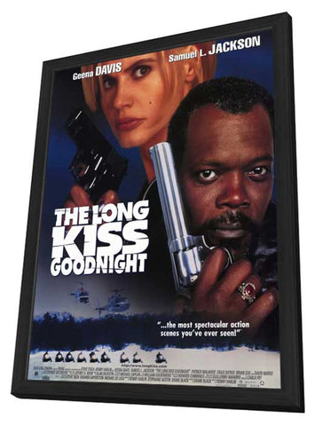 The Long Kiss Goodnight 11 x 17 Movie Poster - Style A - in Deluxe Wood Frame