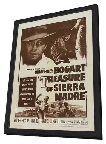 The Treasure of the Sierra Madre 11 x 17 Movie Poster - Style A - in Deluxe Wood Frame