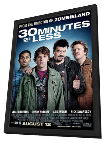 30 Minutes or Less 11 x 17 Movie Poster - Style A - in Deluxe Wood Frame