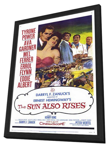 The Sun Also Rises 27 x 40 Movie Poster - Style A - in Deluxe Wood Frame