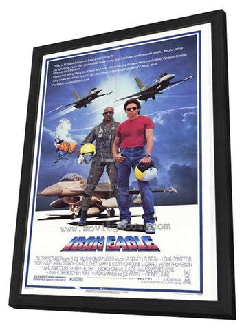 Iron Eagle 27 x 40 Movie Poster - Style A - in Deluxe Wood Frame