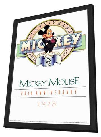 Mickey Mouse 60th Anniversary Gallery 11 x 17 Movie Poster - Style A - in Deluxe Wood Frame