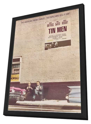 Tin Men 11 x 17 Movie Poster - Style A - in Deluxe Wood Frame