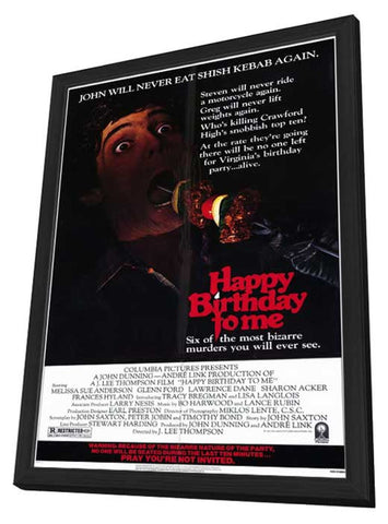 Happy Birthday to Me 11 x 17 Movie Poster - Style A - in Deluxe Wood Frame