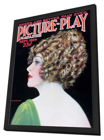 Anna Q. Nilsson 11 x 17 Picture-Play Magazine Cover 1920's - in Deluxe Wood Frame