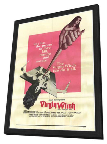 Virgin Witch 11 x 17 Movie Poster - Style A - in Deluxe Wood Frame