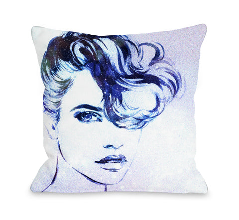 Pomp Adore - Blue Throw Pillow by OBC 18 X 18