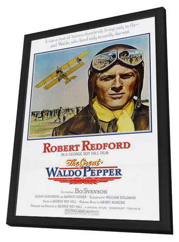 The Great Waldo Pepper 11 x 17 Movie Poster - Style B - in Deluxe Wood Frame