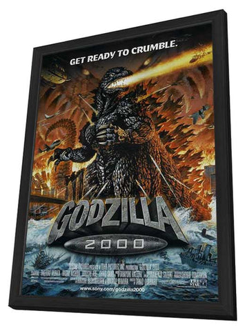 Godzilla Millenium 11 x 17 Movie Poster - Style A - in Deluxe Wood Frame