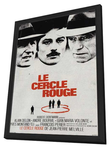 Le cercle rouge 11 x 17 Movie Poster - French Style A - in Deluxe Wood Frame