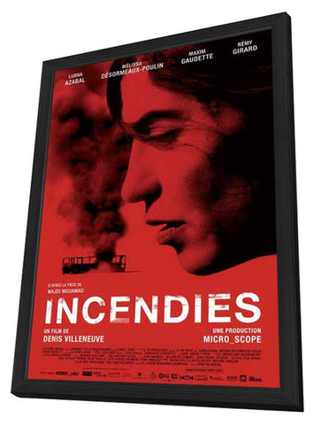 Incendies 11 x 17 Movie Poster - Canadian Style A - in Deluxe Wood Frame