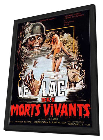 Zombie Lake 11 x 17 Movie Poster - French Style A - in Deluxe Wood Frame