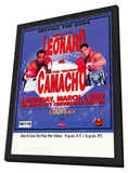 Sugar Ray Leonard vs. Hector Camacho 11 x 17 Boxing Promo Poster - Style A - in Deluxe Wood Frame