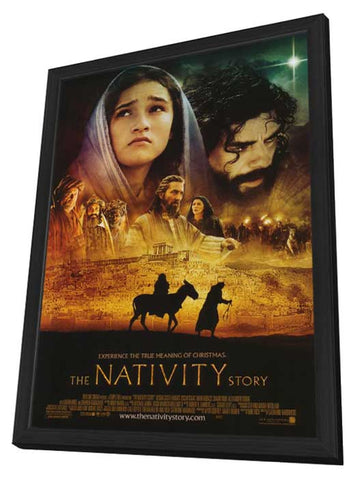 The Nativity Story 11 x 17 Movie Poster - Style B - in Deluxe Wood Frame
