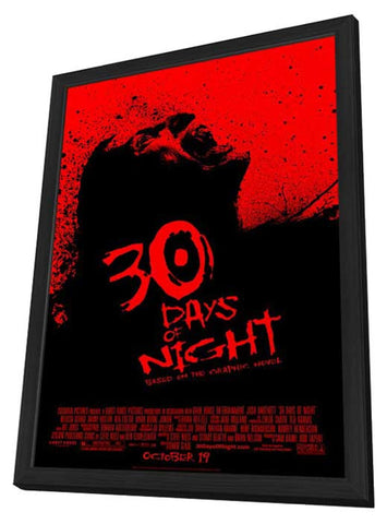 30 Days of Night 11 x 17 Movie Poster - Style B - in Deluxe Wood Frame