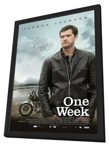 One Week 11 x 17 Movie Poster - Style A - in Deluxe Wood Frame
