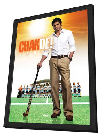 Chak De India 11 x 17 Movie Poster - German Style A - in Deluxe Wood Frame
