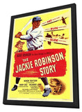 The Jackie Robinson Story 11 x 17 Movie Poster - Style A - in Deluxe Wood Frame