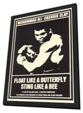 Float Like a Butterfly Sting Like a Bee 11 x 17 Movie Poster - Style A - in Deluxe Wood Frame