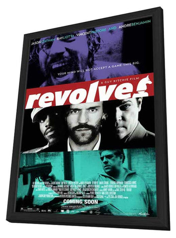 Revolver 11 x 17 Movie Poster - Style M - in Deluxe Wood Frame